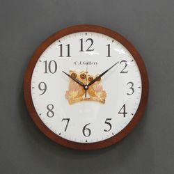 (kcjg048)저소음 심플 트윈부엉이 시계 350