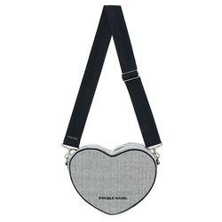 HEART BAG (HERRINGBONE BK)