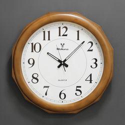(kyos030)WD500 월넛 12각 벽시계 (저소음)(지름 50cm)
