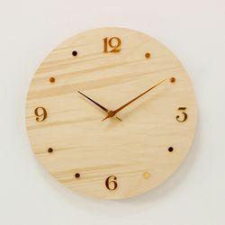 (khyn012)저소음 자작나무 시계 (YN)