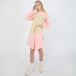 TOi 스트라이프 포켓 원피스 핑크