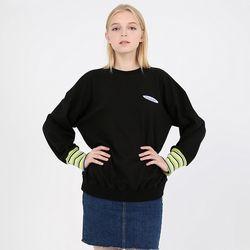 TOi 스몰 로고 스웨트 셔츠 블랙