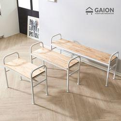 레인 600 철재 의자-참죽원목