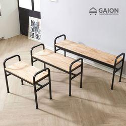 레인 800 철재 의자-참죽원목