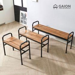레인 800 철재 의자-멀바우 원목