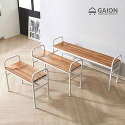 레인 1200 철재 의자-멀바우 원목