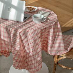 온더부다페스트핑크 식탁보 테이블보 120x120cm