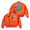 WOLF OVERSIZED QUILTED MA-1 JACKET ORANGE