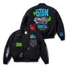 WOLF OVERSIZED QUILTED MA-1 JACKET BLACK