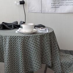 온더아멜리에그린 식탁보 테이블보 120x120cm