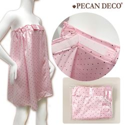 피칸데코 골프 샤워가운 도트 핑크 단품