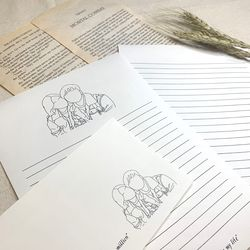 우리의 추억 소환 드로잉 편지지 세트 (색상없음)