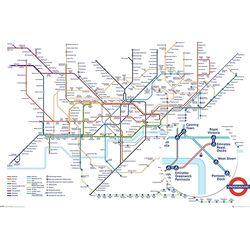 GN0869 런던 지하철 노선도 포스터 (액자상품)