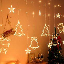 LED 크리스마스 커튼 조명 3.5m 감성 카페 인테리어