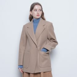 W123 ground one botton half coat beige