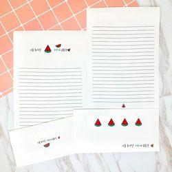 귀염뽀짝한 과일야채 편지지 세트(기본)
