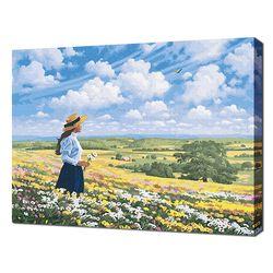 [명화그리기]4050 에이번리 마을 언덕-앤의 사랑 28색 풍경화