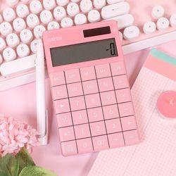 핑크 디자인 사무용 미니 전자 계산기