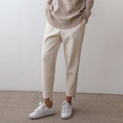 Wool Unbal Baggy Pants - 안감기모