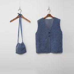 [SET] N Teddy Bear Vest   Bucket Bag
