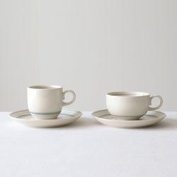 슬레이트 라인 티잔 커피잔 세트