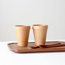 라 우드 나무 컵 4type- pot