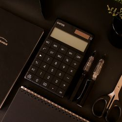 블랙 디자인 미니 사무용 전자 계산기