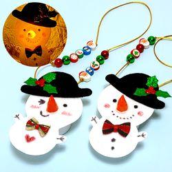 만들기 크리스마스 눈사람 LED 목걸이 (3인용)