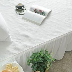 사계절 고급스러운 클레오 화이트 침대 패드 Q