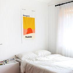 MonagustA 패브릭 포스터 마드리드
