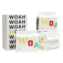 WOAH 발도장이찍히지않는 소형 패드 4팩(200매)