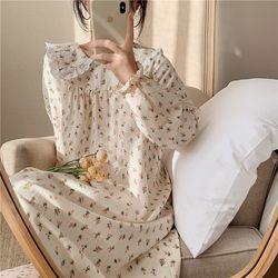 빈티지 로즈 원피스 파자마 잠옷