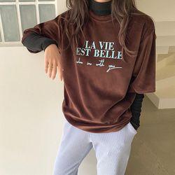 반팔 벨루아 티셔츠