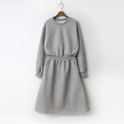 New Gimo Fit N Flare Dress - 기모안감