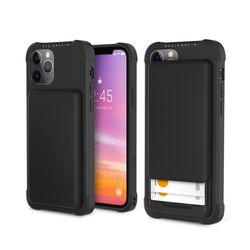 아이폰12프로맥스 슬라이더 카드 케이스-블랙