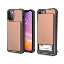 아이폰12프로맥스 슬라이더 카드 케이스-로즈골드