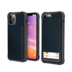 아이폰12프로맥스 슬라이더 카드 케이스-네이비블루