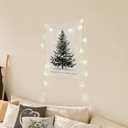 가리개커튼 크리스마스 벽장식 50x70 스노우트리