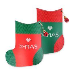 (인디고샵)산타가 직접 짠 크리스마스 양말 상자 (2개)