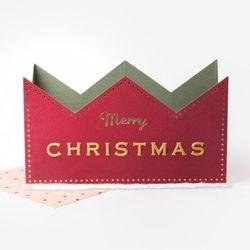 (인디고샵)레드 왕관 메리크리스마스 카드 (1개)