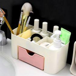 홈데코 화장품 정리함(핑크)