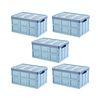 다용도 접이식 수납&정리&보관 폴딩박스-중형-30L-블루-5개세트