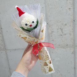 크리스마스 산타 퐁퐁 비누꽃다발 한송이