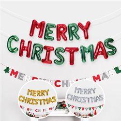 은박풍선세트 MERRY CHRISTAMS 3색 크리스마스 풍선
