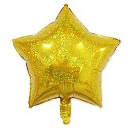 (인디고샵)골드 반짝이 스타 호일풍선
