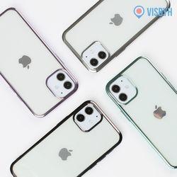 아이폰12미니 테두리 케이스 젤리슬림 + 투명케이스