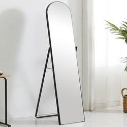 준우드 보잉 감성돋는 원형 전신거울 블랙 화이트 전신경 거울