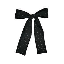 shine black ribbon hairpin