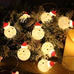 눈사람 전구 1.8M 10구 크리스마스 매장 인테리어