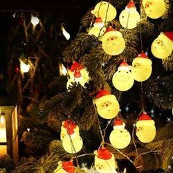 산타클로스 전구 1.8M 10구 크리스마스 매장 인테리어